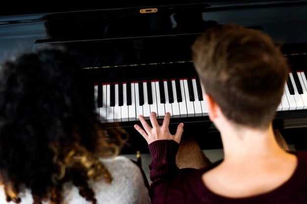 Couple Practicing Piano